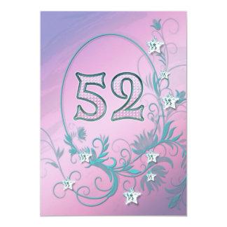 誕生日のパーティの招待状52歳 カード
