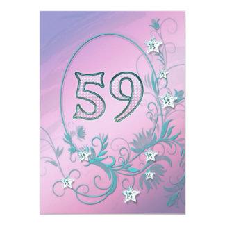 誕生日のパーティの招待状59歳 カード