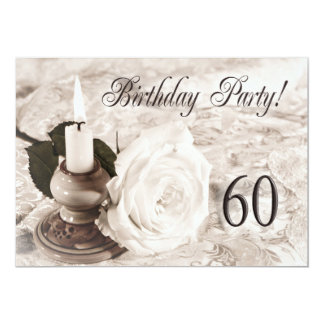 誕生日のパーティの招待状60歳 カード