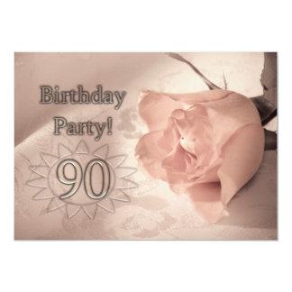 誕生日のパーティの招待状90歳 カード