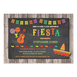 誕生日のフェスタのメキシコのメキシカン・ハットのパーティーの招待 カード