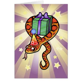 誕生日のヘビ カード