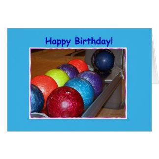 誕生日のボーリング・ボール カード