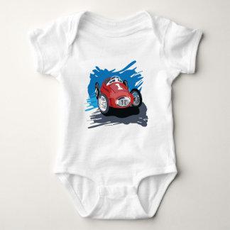 誕生日のワイシャツ-レースカーのワイシャツ ベビーボディスーツ