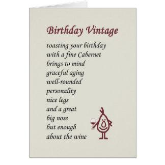 誕生日のヴィンテージ-おもしろいな誕生日の詩 カード