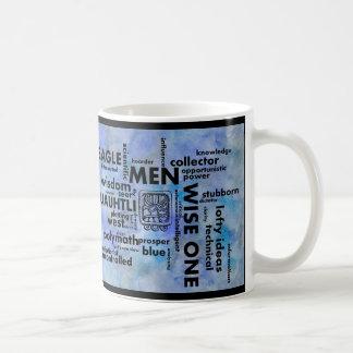 誕生日の単語の雲の人のCuauhtliのマヤのアステカなマグ コーヒーマグカップ