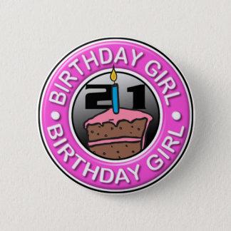 誕生日の女の子ボタン21歳の 5.7CM 丸型バッジ