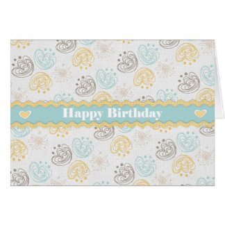 誕生日の挨拶状 カード