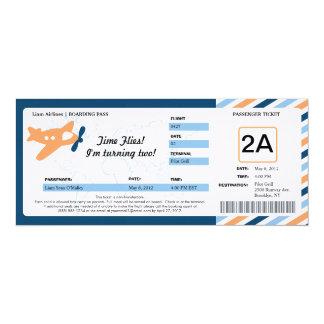 誕生日の搭乗券のチケット 10.2 X 23.5 インビテーションカード