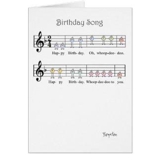 誕生日の歌 グリーティングカード