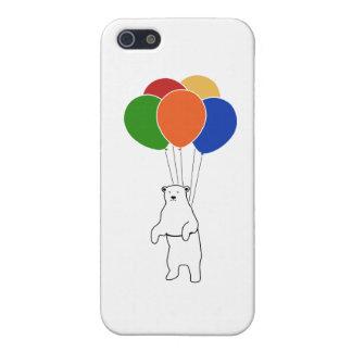誕生日の気球を持つ飛んでいるな白くま iPhone 5 ケース