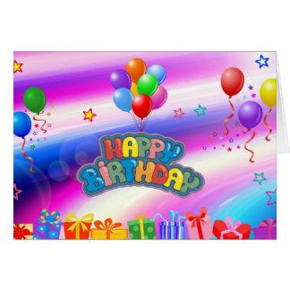 誕生日の気球 カード