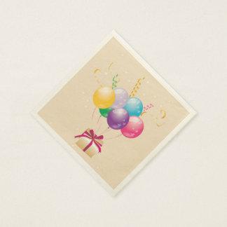 誕生日の気球 スタンダードカクテルナプキン