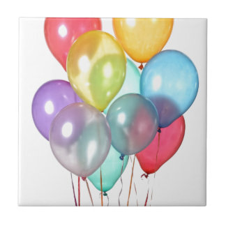誕生日の気球 タイル