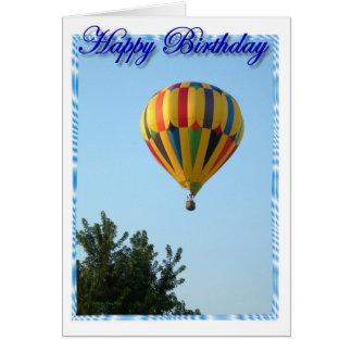 誕生日の熱気の気球 カード