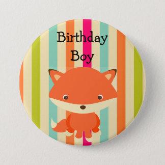 誕生日の男の子ボタンの森林テーマ 7.6CM 丸型バッジ