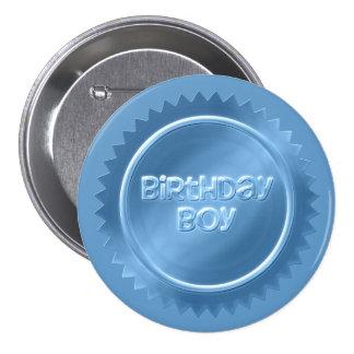 誕生日の男の子ボタン 7.6CM 丸型バッジ