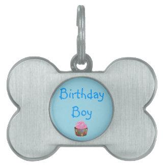 誕生日の男の子 ペットネームタグ