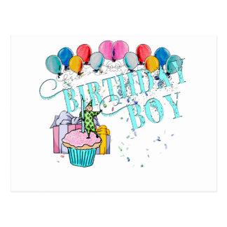 誕生日の男の子 ポストカード