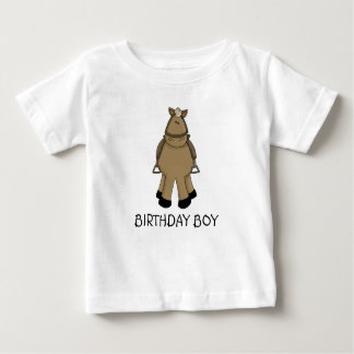 誕生日の男の子-子馬 ベビーTシャツ