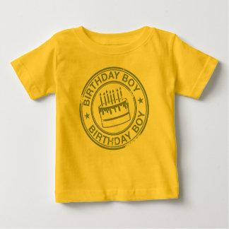 誕生日の男の子-緑 ベビーTシャツ