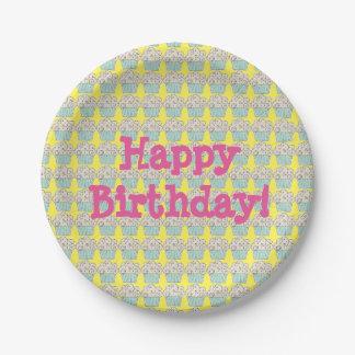 誕生日の紙皿 ペーパープレート