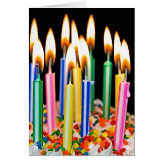 誕生日の蝋燭のユーモア カード