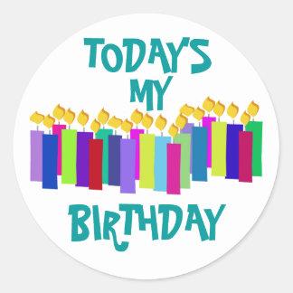 誕生日の蝋燭 ラウンドシール