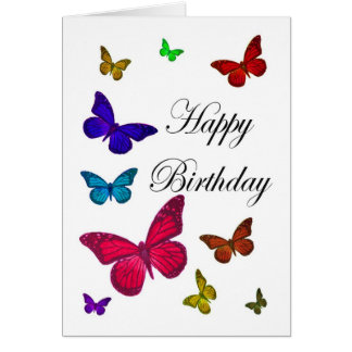 誕生日の蝶 カード