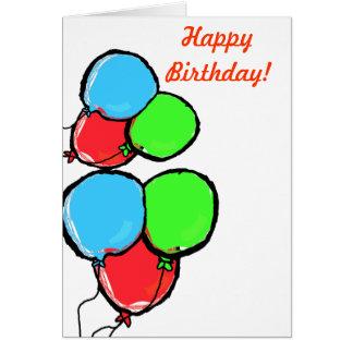 誕生日の郵便料金 グリーティングカード