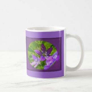 誕生日の金星の姿見の野生の花の花柄 コーヒーマグカップ