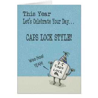 誕生日の願い、Capsロックのスタイル グリーティングカード