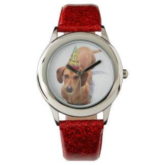 誕生日のDachsund犬のファッション・ウォッチ 腕時計