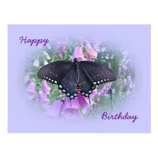 誕生日のSpicebushのアゲハチョウの蝶 ポストカード