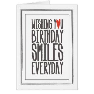 誕生日は挨拶状微笑します グリーティングカード