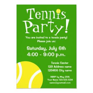 誕生日またはBBQのためのテニスのパーティの招待状 12.7 X 17.8 インビテーションカード