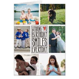 誕生日を望んで毎日微笑します グリーティングカード
