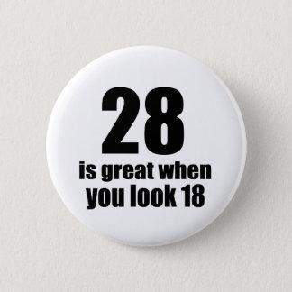 誕生日を見るとき28素晴らしいですがあります 5.7CM 丸型バッジ
