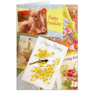 誕生日カードの組合せ カード