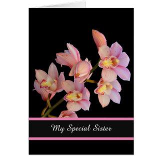誕生日カード私の特別な姉妹 グリーティングカード