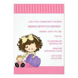 誕生日及び眠りのパーティの招待状 カード