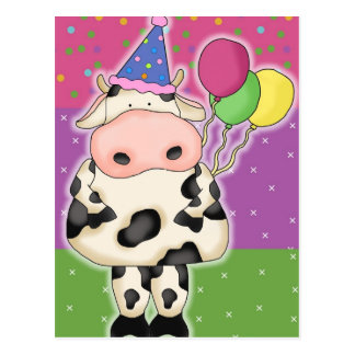 誕生日牛郵便はがき ポストカード