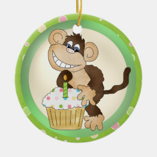 誕生日猿のオーナメント セラミックオーナメント