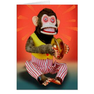 誕生日猿 グリーティングカード