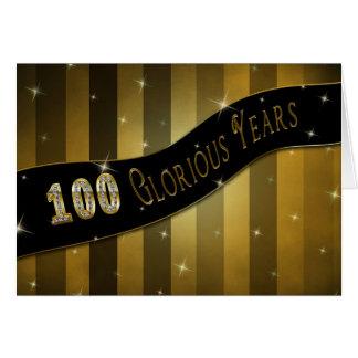 誕生日100つの見事な年の グリーティングカード