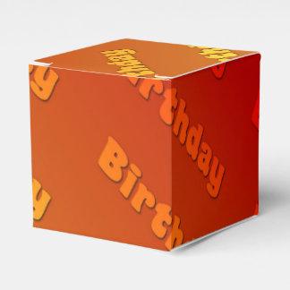 誕生日(オレンジ) フェイバーボックス