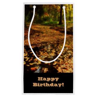 誕生日、ギフトバッグ、森の歩行 スモールペーパーバッグ