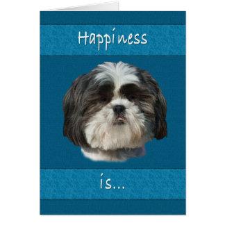 誕生日、シーズー(犬)のTzu犬 カード