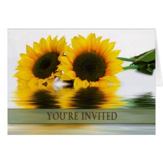 誕生日-ヒマワリ-多目的招待状- グリーティングカード