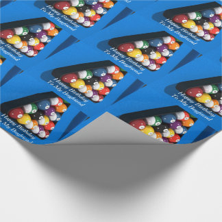 誕生日、ボーイフレンド、球、ビリヤード台のギフト用包装紙 ラッピングペーパー